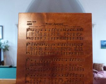 Blessed Assurance hymn carving on Maple wood - Edit Listing - Etsy
