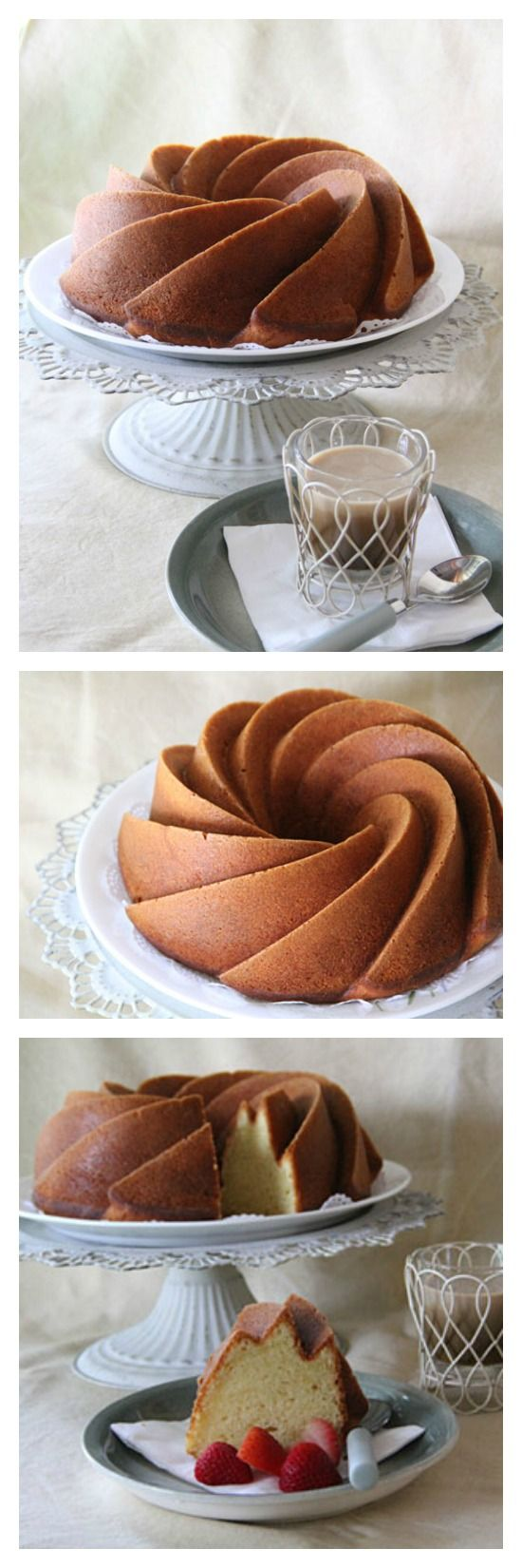 Lemon Cream Cake Recipe, sweet, heavenly, rich, and lemony. This beautiful cake makes a perfect centerpiece for any parties! http://rasamalaysia.com