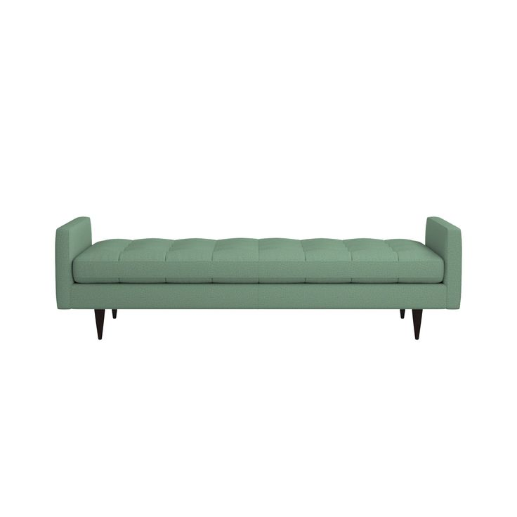 Shop Petrie Midcentury Daybed.   Well-suited to make a great impression, the menswear-inspired fabric tailors Petrie's sleek, boxy cushions and slim track arms with heathered color and soft texture.