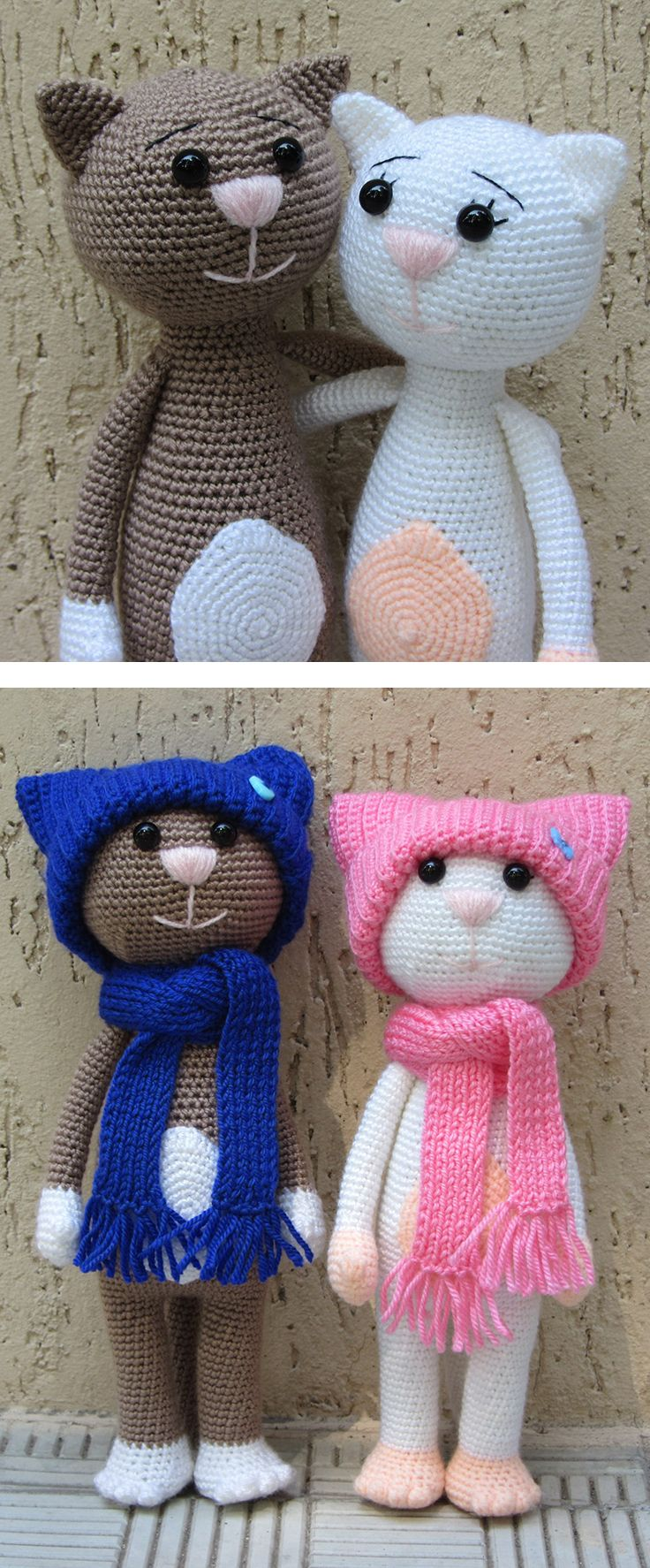 Crochet cat will be a good present for cat-lovers. Make somebody's day with this wonderful handmade gift!