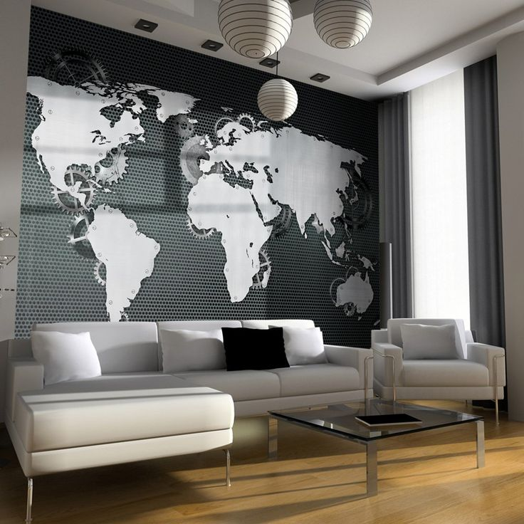 1000 id es propos de papier peint carte sur pinterest for Decoration murale carte du monde