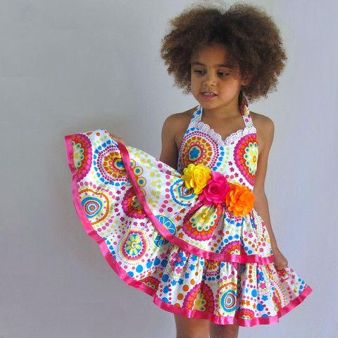 little girls heaven - Party Dress- flowers