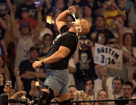 """No. 2 is """"Stone Cold"""" Steve Austin, master of the Stunner"""