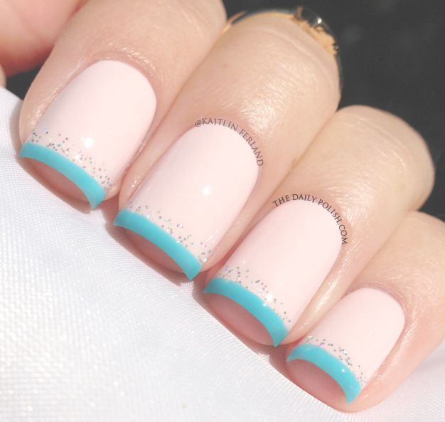 Something Blue! #nails #BodyToolz: Nude Nails, Nails Art, Nails Design, Color, Blue Tips, Nails Ideas, French Tips Nails, Kiss The Bride, Baby Shower