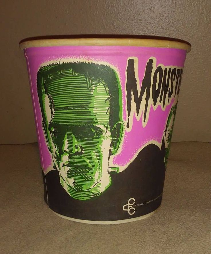 My 1960's Monster Popcorn Bucket -- ~ NFS . #monster #frankenstein #mummy #dracula #wolfman #vintage #1960s #vintagemonsters #toycollection #toycollector #retro #midcentury #toys