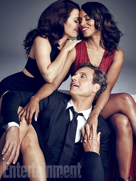 Bellamy Young, Kerry Washington and Tony Goldwyn #EWTGIT
