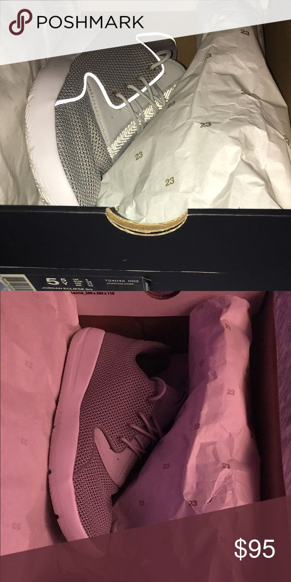 Nib Jordan Eclipse BG size 5.5Youth Nib Jordan Eclipse BG size 5.5Youth. These are super lightweight, go with Everything N Super Comfy! I have tried these on, but I have so many N I barely wear them so I figured I'd sell these especially 4 spring N summer bc there Perfect! Jordan Shoes Sneakers