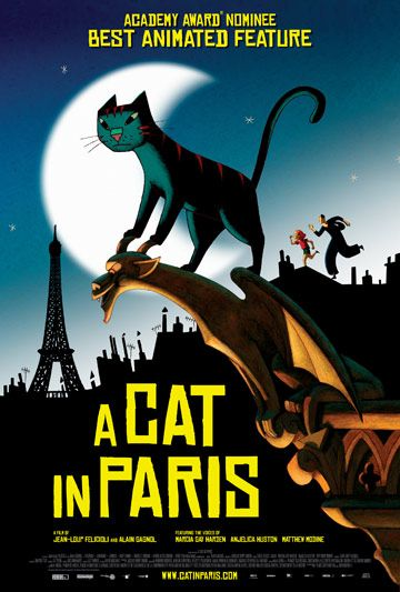 Looks GREAT!!! Open in DC June 29 at Landmark E Street Cinema: Film, Cats, Paris, A Life, Life, Movies, Movie Poster, De Chat
