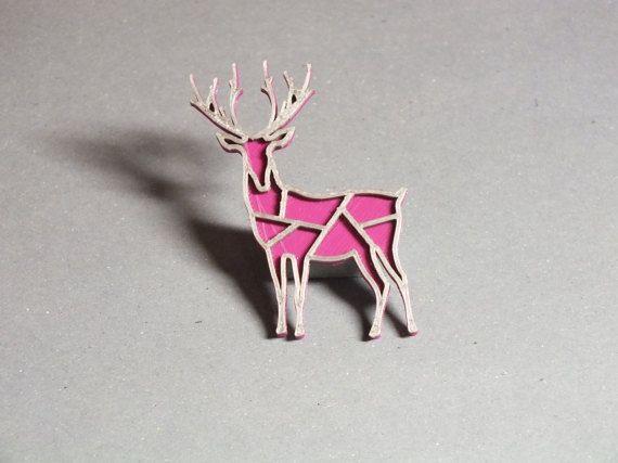 3D printed - Deer purple/silver