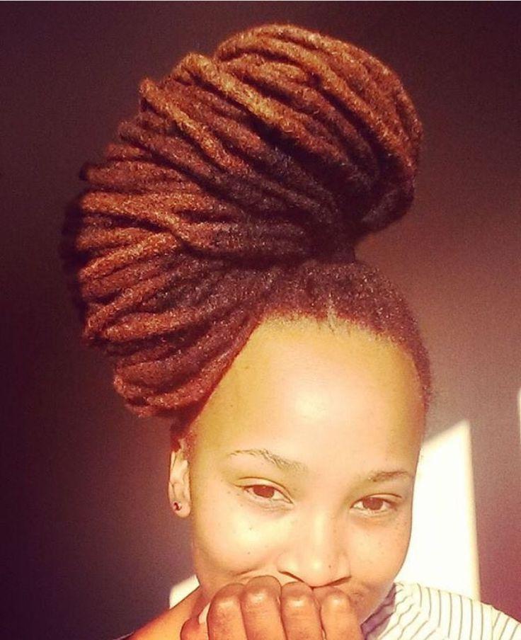 LOCS Natural Black Hair Styles, Wrap / Bun