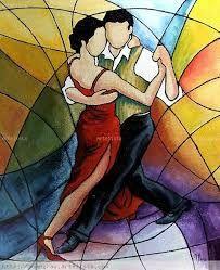 Resultado de imagen para pinturas de bailarines de tango