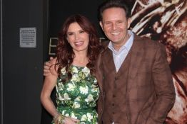 "Mark Burnett and Roma Downey at ""The Bible Experience"" opening night gala on March 19, 2014 in New York."