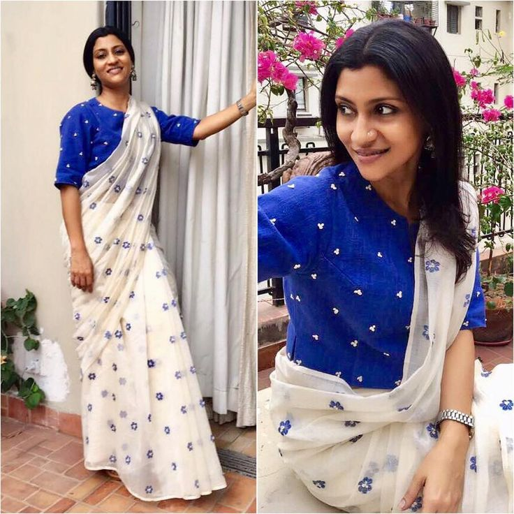 "7,781 Likes, 26 Comments - A Fashionista's Diary (@afashionistasdiaries) on Instagram: ""@konkona  Sari - @kanellehq  Jewelry - @motifsbysurabhididwania  Styled by - @who_wore_what_when…"""