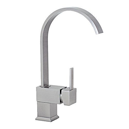 freuer organica collection modern kitchen wet bar sink faucet brushed nickel by freuer