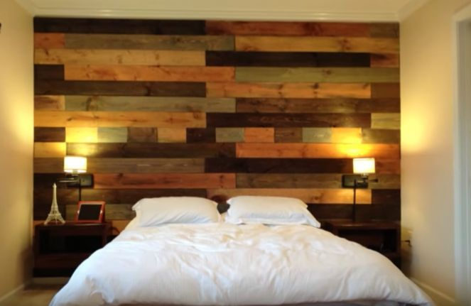 Watch how to make an accent wall out of reclaimed pallet wood