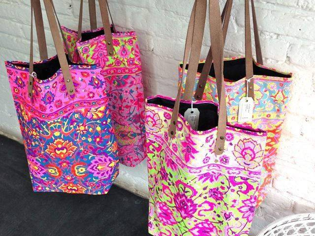"""I bought one of these colourful totes from the """"Home Store"""" in Seminyak. The pattrens are so lively! Funny enough, hidden at the back of the store was the coffee shop """"Revolver"""". Another treasure find, in Bali :)"""