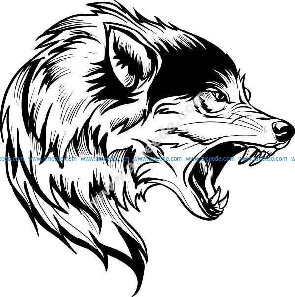 Snow wolf head – Download Vector Tribal Animal Tattoos, Tribal Wolf Tattoo, Wolf Tattoos Men, Wolf Tattoo Sleeve, Bull Tattoos, Tribal Animals, Wolf Tattoo Design, Wing Tattoos, Celtic Tattoos