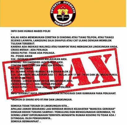 Info dari Humas Mabes Polri
