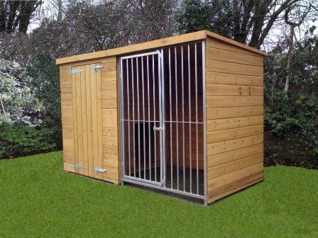 Dog kennels and runs dog breeding kennels ideas for Dog kennel shed combo plans