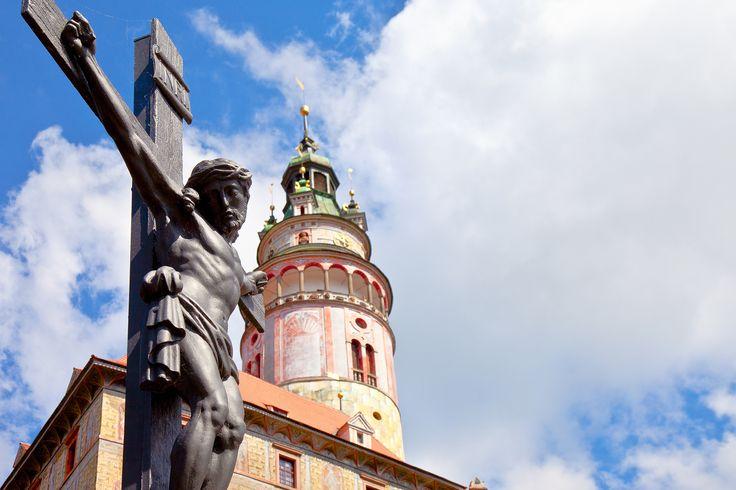 Český Krumlov - socha