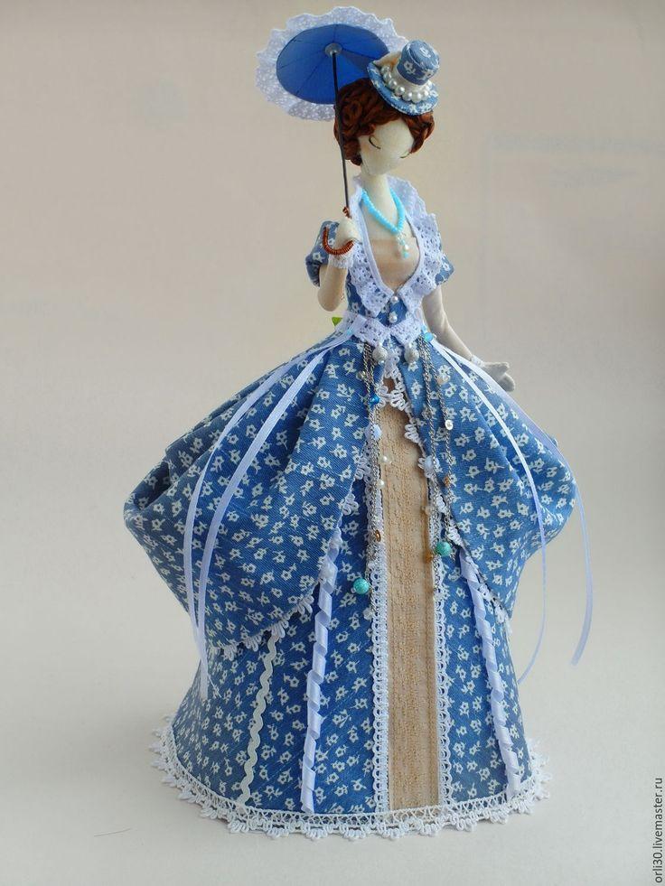 Купить Текстильная кукла.Тряпиенс.Лола - голубой, тряпиенс, корейские тряпиенсы, интерьерная кукла
