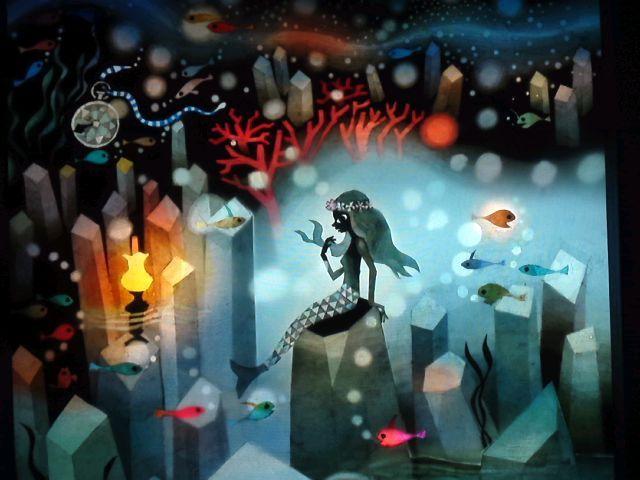 seiji fujishiro:little mermaid : Travail de la main