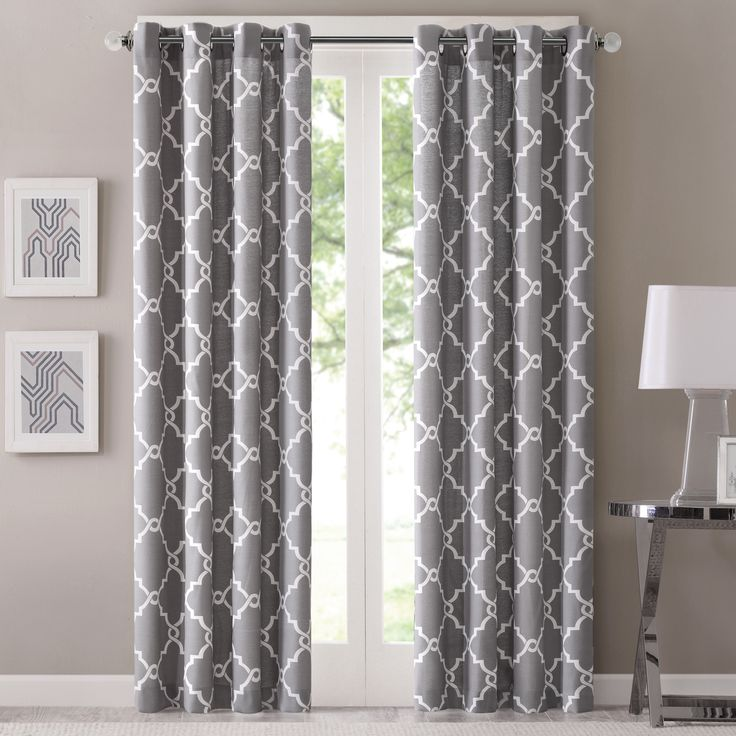Madison Park Westmont Geometric Pattern Curtain Panel Single 50x