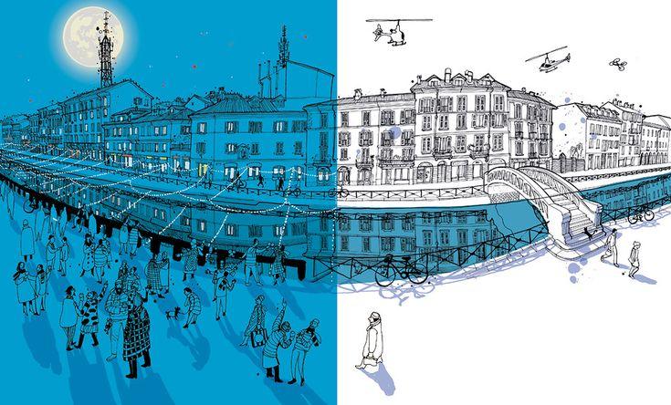 I am Milan: Il naviglio grande di notte e di giorno