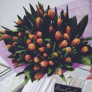 FlowWow! - Букет из 49 тюльпанов - цветы от всех флористов твоего города
