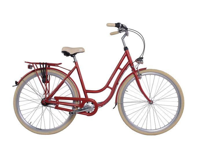 """Dámské retro kolo Cossack Verona 20,5""""/7r, červené Dámské městské kolo v retro stylu Cossack Verona s 3 rychlostním řazením a lehkým hliníkovým rámem bylo navrženo pro eleganci i pro Váš komfort. Konstrukce tohoto kola byla vytvořena pro snadný pohyb ve městě.  Nechybí ani pevný zadní nosič. O Váš komfort se postará velké pohodlné sedlo, které doladí Váš požitek z jízdy. Za nepříznivého počasí Vás ochrání přední a zadní blatník, spolu s účinným krytem řetězu. Bezpečnou projížďku zajistí…"""