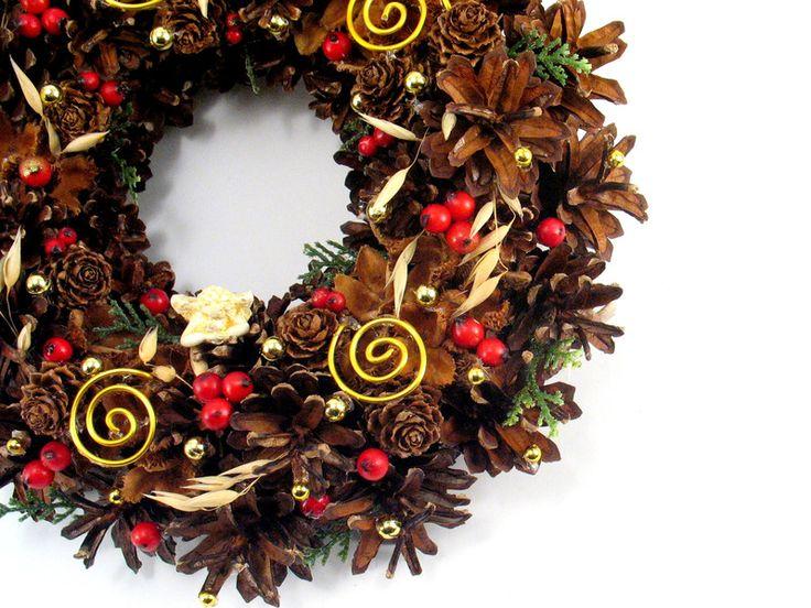 Weihnachtsdeko - Weihnachten Kranz mit Engel - ein Designerstück von Zielonepalce bei DaWanda