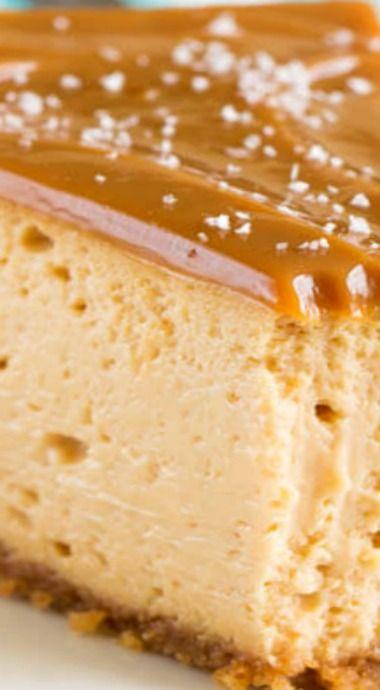 I hate dulce de leche but Austin loves it.  Decadent Dulce de Leche Cheesecake