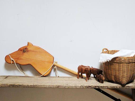Hand Made Wood Hobby Horse / Hobby Horse Toy / Hobby Horse Stick / Wood Horse Toy / Pine Stick Horse / Wood Horse Wall Decor