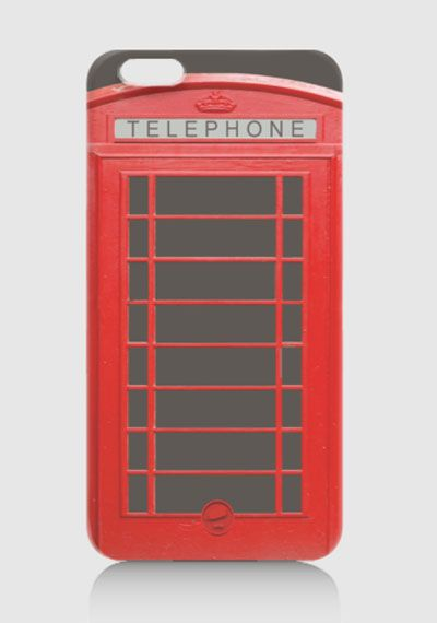 Phonebox Hardcase for iPhone 6 design by Mr. Jo. Red case with telephone graphic print at front, this red case also available for iPhone 4/4S, 5/5S, 5C, 6+, Samsung Galaxy Note 2, 3, Samsung Galaxy Grand, Samsung Galaxy S3, S4, S5, Redmi Xiaomi. http://www.zocko.com/z/JJ6J8