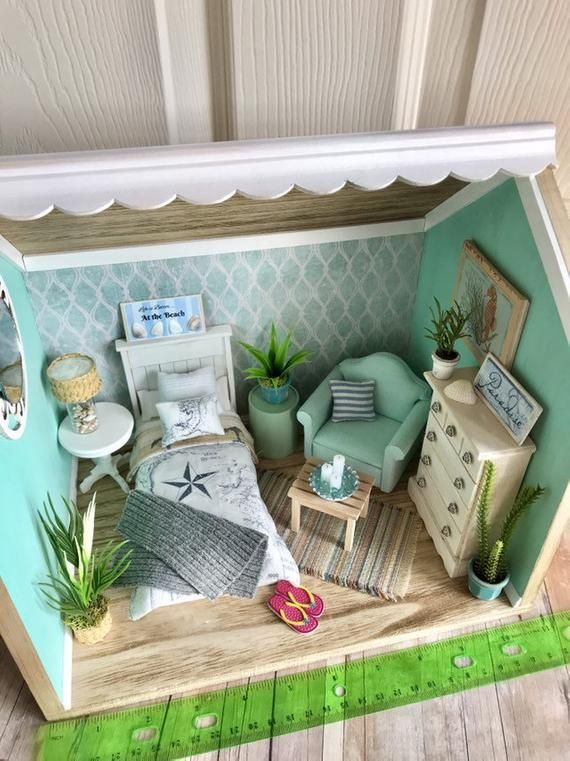 Miniature Dollhouse Room Box 1 12 Scale Beach Diorama Dollhouse Miniatures Room Box Miniature Rooms Doll House