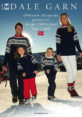 Ravelry: Dale of Norway / Dalegarn #280, Offisielle Olympiske Gensere til Norges…