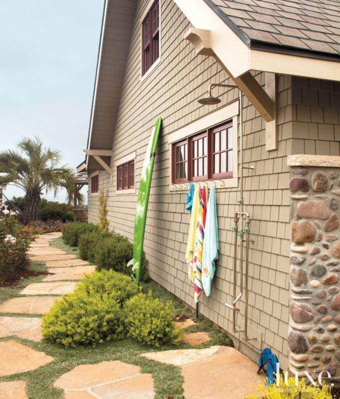 outdoor shower stone homesoutdoor showersdesign interiorsluxury