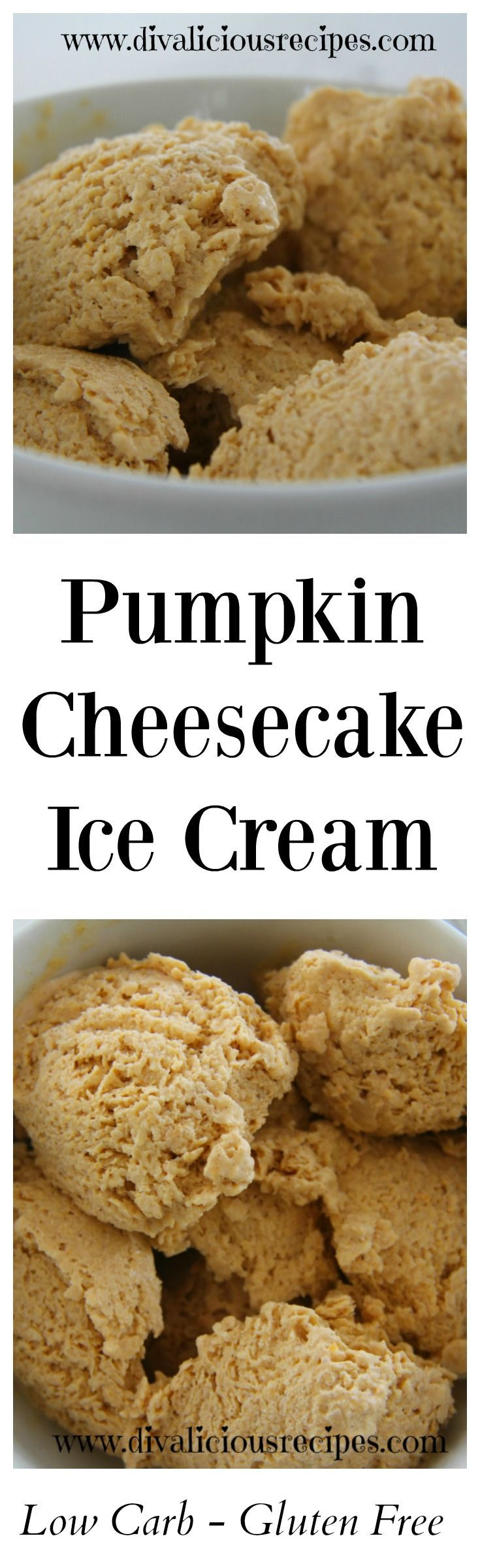 Pumpkin cheesecake ice cream makes a delicious low carb dessert.