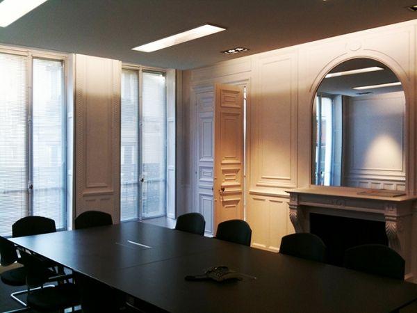Aménagement bureaux professionnels paris cloison amovible bureau