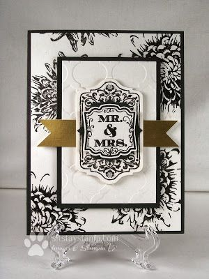 Sit. Stay. Stamp.: My First Wedding Card!