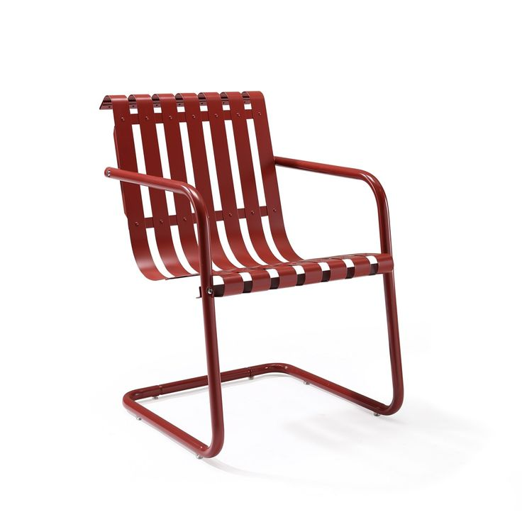 This Retro Style, Blue Outdoor Spring Chair Features A Simple Cantilevered  Design In Durable Steel That Will Withstand The Elements For Years To Come.