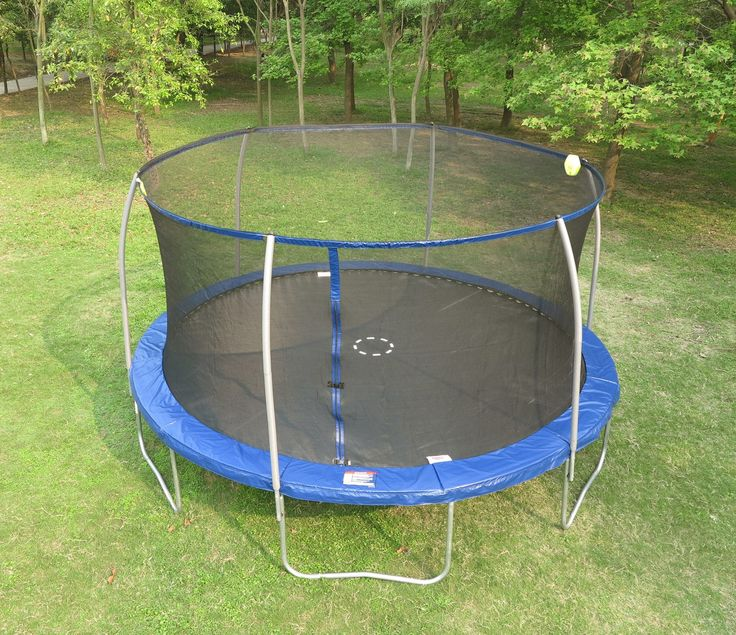 Sportspower 15' Trampoline with Steel Flex Enclosure and Electron Shooter Combo