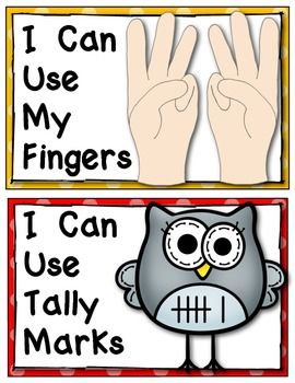 (sample page) Kindergarten Common Core Number Strategy Posters: {Math Word Wall} Math Mini Lessons. $