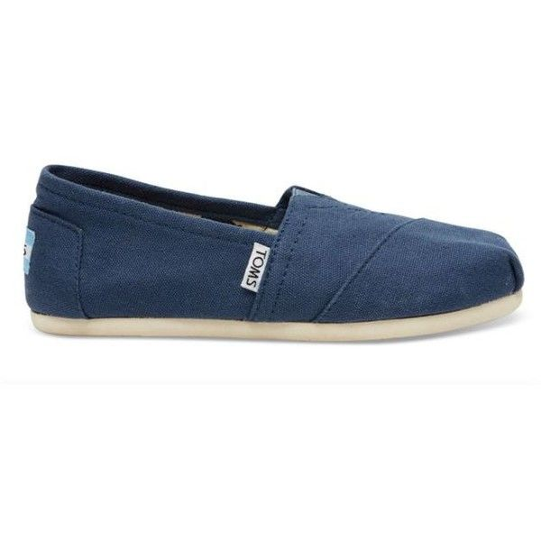 Toms Navy Classic Slip On Espadrille - Women's ($48) ❤ liked on Polyvore featuring shoes, sandals, navy, navy espadrilles, toms espadrilles, navy blue sandals, navy blue espadrilles and toms shoes