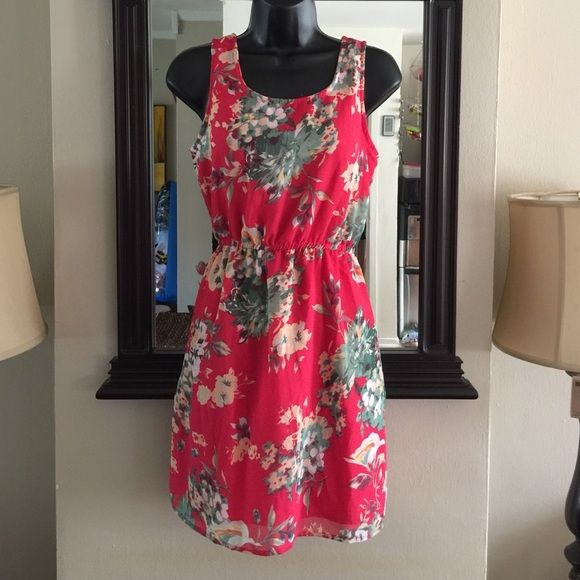 BLUE LIGHTRed Summer Floral Dress Sunday Night Blue Light Special For 2 hours item price lowered for quick sale! Need to sell because I'm moving. Get while it's hot!Red floral sundress. Cute for the summer! Junior sizing. Dresses