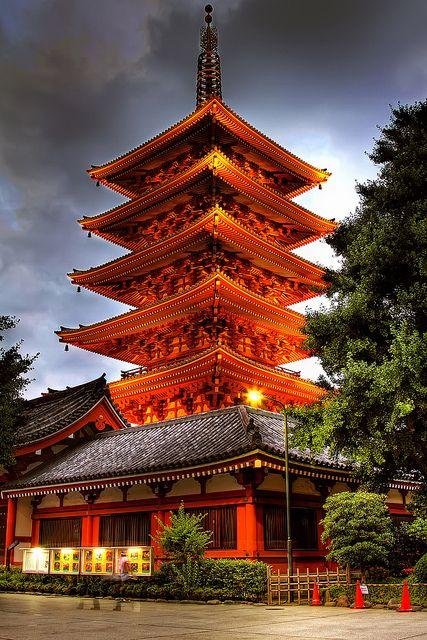 Sensoji Pagoda in Asakusa, Tokyo, Japan