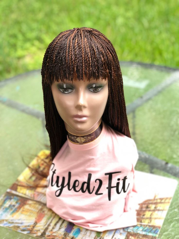 Braided wig fringemade to order chose your color and