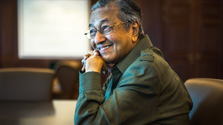 90 year old, Tun Dr Mahathir Mohamad poses for a portrait in his office on August 21st, 2015 in Kual... - FT