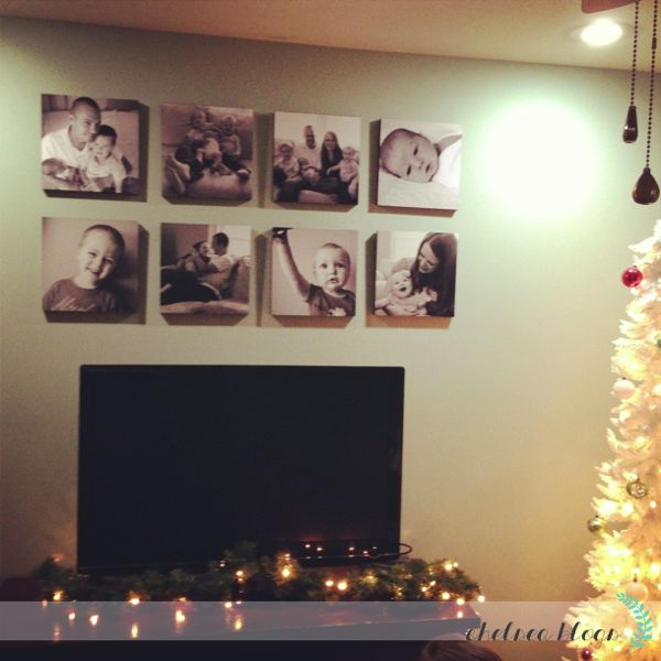 If you have a large wall area and you want those expensive looking canvases, you can fake the look with some photos. The tutorial is really easy to follow and you can use pictures of anything you like