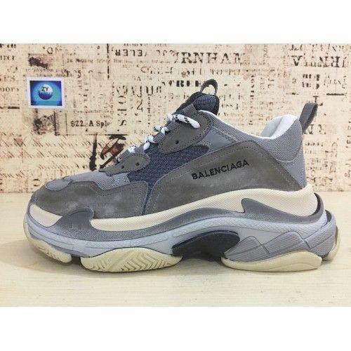 95f093d09066 Balenciaga Triple S Sneaker - Chaussures Balenciaga Triple S Sneaker Blanc  Gris Kaki Balenciaga Vendre Tumblr